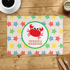 Crab Personalised Placemat