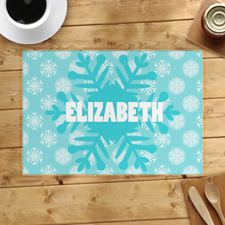 Snowflake Personalised Placemat
