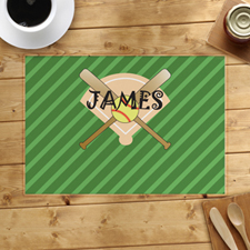 Softball Personalised Placemat