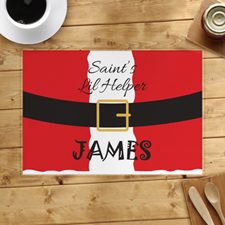 Saint's Little Helper Personalised Placemat