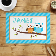 Blue Owl Personalised Placemat
