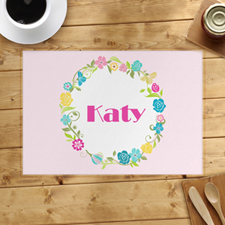 Floral Personalised Placemat