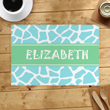 Blue Leopard Personalised Placemat