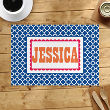 Navy Clover Personalised Placemat