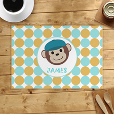 Monkey Boy Personalised Placemat