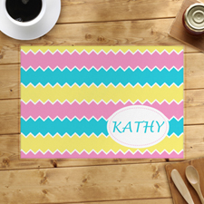 Lemon Pink Aqua Personalised Placemat