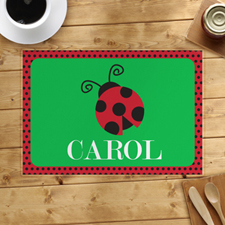 Polka Dot Ladybug Personalised Placemat