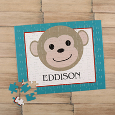 Monkey Boy Personalised Kids Puzzle