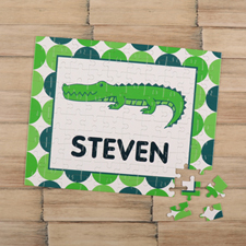 Crocodile Personalised Kids Puzzle