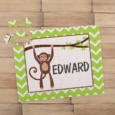 Monkey Personalised Kids Puzzle