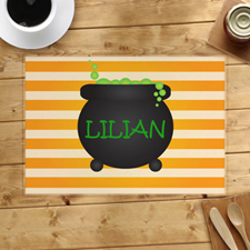 Cauldron Personalised Halloween Placemat