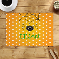 Spider Web Personalised Halloween Placemat