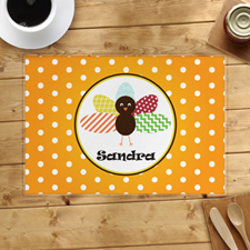 Personalised Thanksgiving Polka Dot Placemat