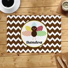 Personalised Thanksgiving Chevron Placemat