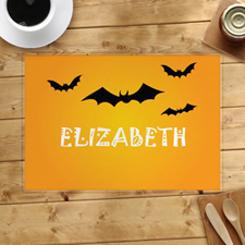 Bat Personalised Halloween Placemat