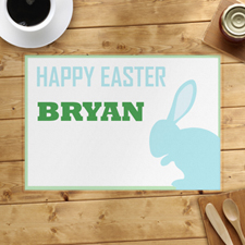 Light Blue Bunny Personalised Placemat