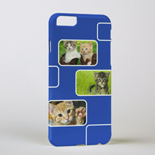 Blue Three Collage Photo Personalised iPhone 6 Case