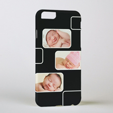 Black Three Collage Photo Personalised iPhone 6 Case