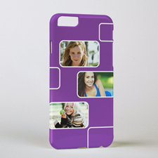 Plum Three Collage Photo Personalised iPhone 6 Case