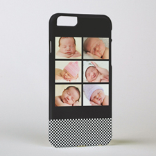 Black Six Collage Personalised Photo iPhone 6 Case