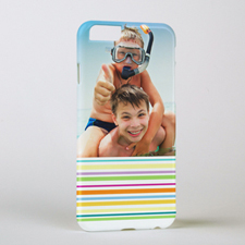 Colourful Stripe Personalised Photo iPhone 6 Case
