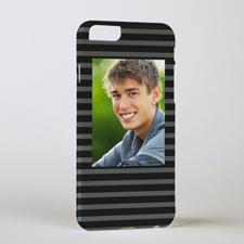 Black Grey Stripe Personalised Photo iPhone 6 Case