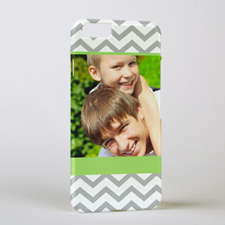 Lime Grey Chevron Personalised Photo iPhone 6 Case