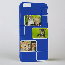Blue Three Collage Photo Personalised iPhone 6+ Case