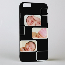 Black Three Collage Photo Personalised iPhone 6+ Case