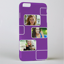 Plum Three Collage Photo Personalised iPhone 6+ Case