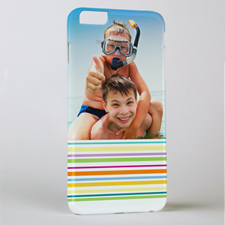 Colourful Stripe Personalised Photo iPhone 6 + Case