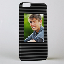 Black Grey Stripe Personalised Photo iPhone 6 + Case