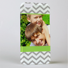 Lime Grey Chevron Personalised Photo iPhone 6+ Case