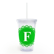 Green Lace Personalised Acrylic Double Wall Tumbler
