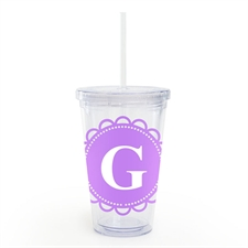 Lavender Lace Personalised Acrylic Double Wall Tumbler