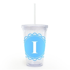 Ocean Lace Personalised Acrylic Double Wall Tumbler