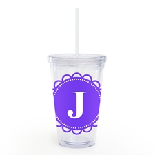 Purple Lace Personalised Acrylic Double Wall Tumbler