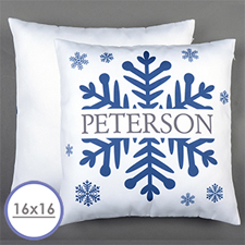 Snowflake Personalised Pillow Cushion Cover 16