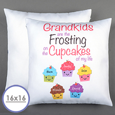 Five Cupcakes Personalised Pillow Cushion Cover 16