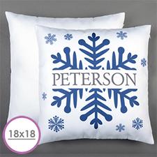 Snowflake Personalised Large Cushion 18