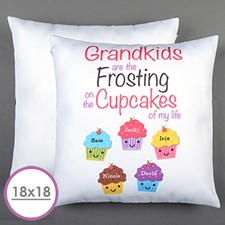 Five Cupcakes Personalised Large Cushion 18