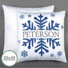 Snowflake Personalised Large Pillow Cushion Cover 20