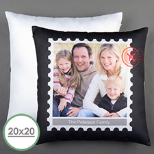 Stamp Personalised Large Pillow Cushion Cover 20