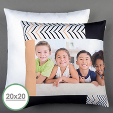 Modern Chevron Personalised Large Pillow Cushion Cover 20