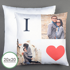 I Love Personalised Large Pillow Cushion Cover 20
