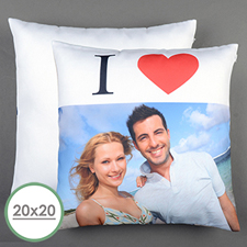 I Heart Personalised Large Pillow Cushion Cover 20