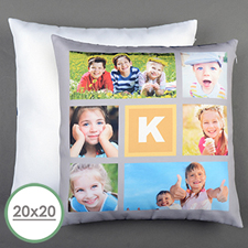 Lemon Collage Personalised Large Pillow Cushion Cover 20