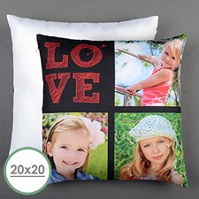 Love Arrow Red Personalised Large Pillow Cushion Cover 20