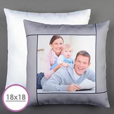 Grey Personalised Large Cushion 18