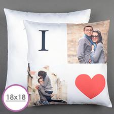 I Love Personalised Large Cushion 18